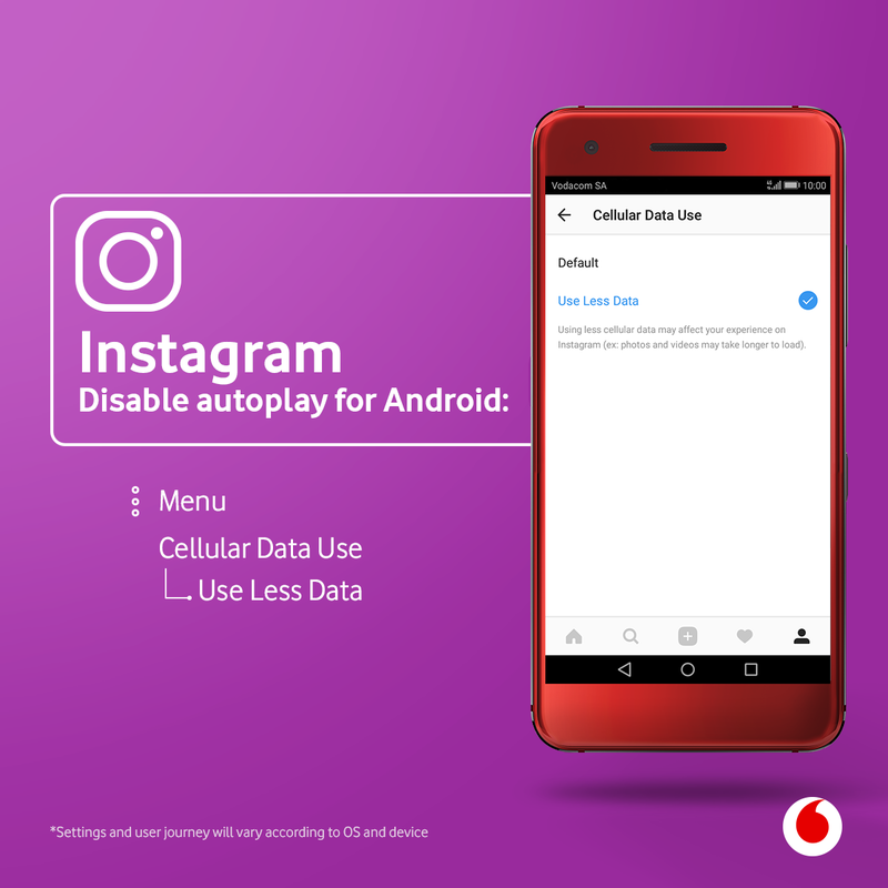 How to use less data ion Instagram