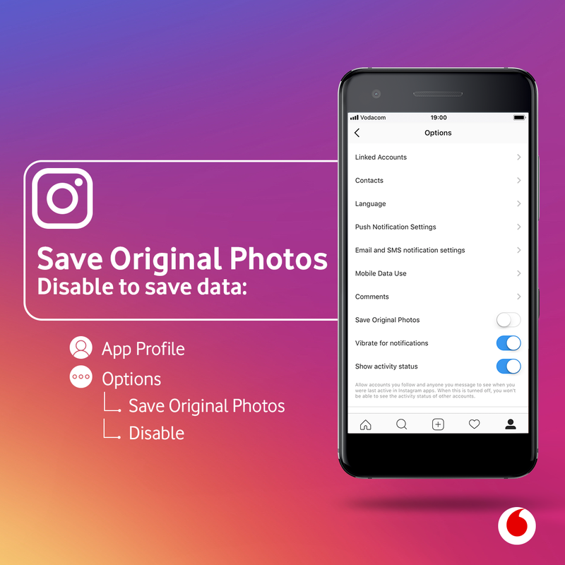 How to disable 'save original photos' on Instagram