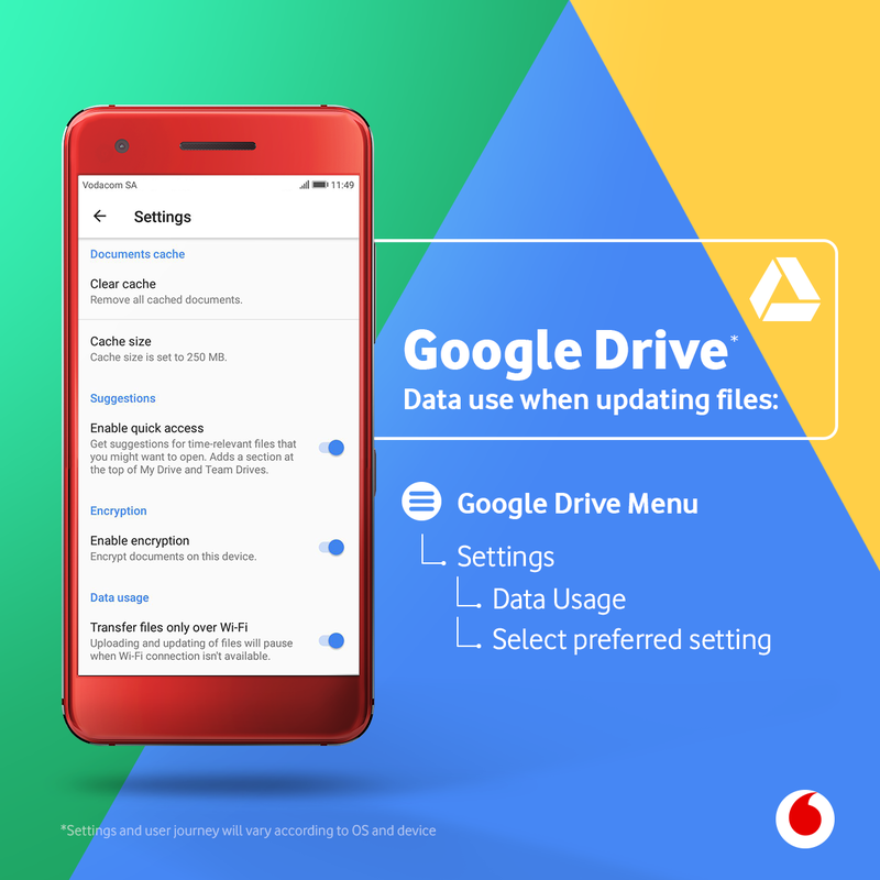 How to update Google Drive on wi-fi only