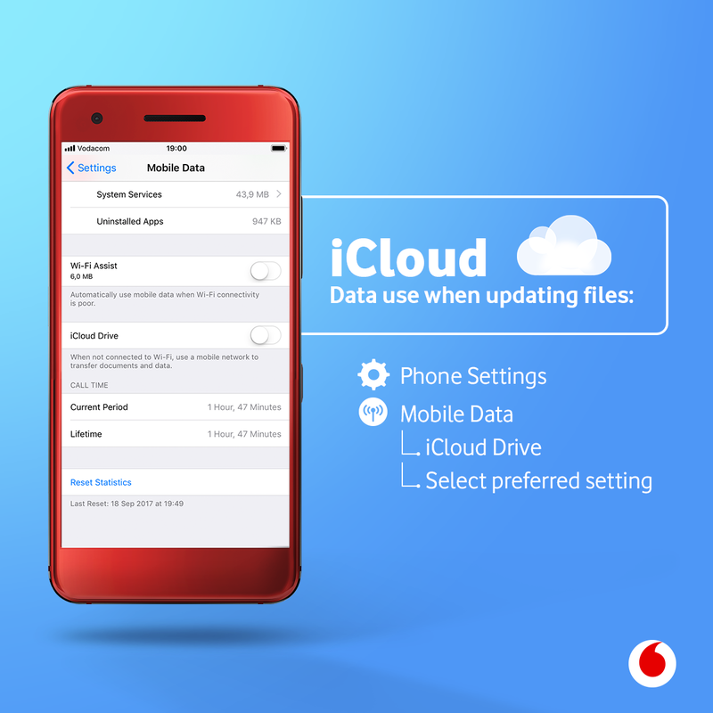 How to prevent iCloud using mobile data