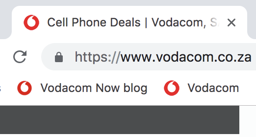 Vodacom is an example of a safe site for online shopping