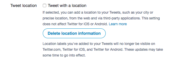 Be wary of sharing your location on Twitter