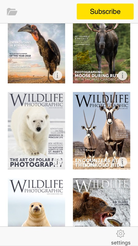 Wildlife Photographic Magazine issues