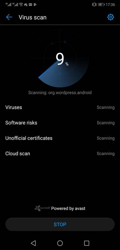 Android has an in-built virus scan