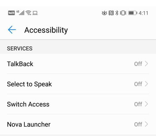 The Android Accessibility Suite offers TalkBack, Select to Speak and Switch Access