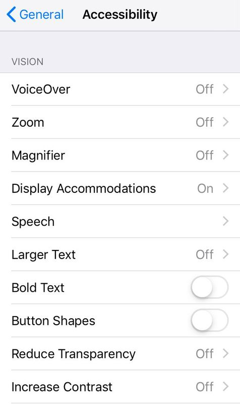 You can find your phone's accessibility options under Settings.